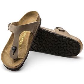 Birkenstock Gizeh Flips Geöltes Leder Herren tabacco brown